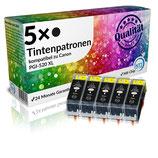 5x Tintenpatronen Canon PGI-520BK Schwarz