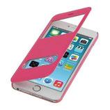 Flip Cover Apple Iphone 6 Plus mit Fenster Pink