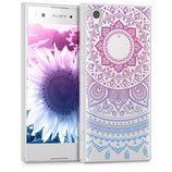 TPU Case Hülle Sony Xperia XA1 Sonne Pink Blau