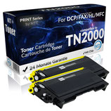 2x Toner Schwarz Brother TN-2000