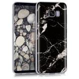 Crystal Case Samsung Galaxy S8 Marmor Schwarz Weiss