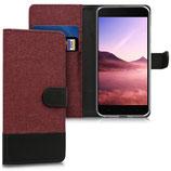 Wallet Case Xiaomi Mi 5X / Mi A1 Canvas Rot-Schwarz
