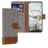 Wallet Case Huawei P40 Lite Canvas Hellgrau