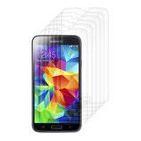 6X Display Schutz Folie für Samsung Galaxy S5 Kristall Klar