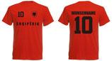 Albanien T-Shirt EM 2016 Name/Druck Rot