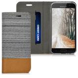 Bookstyle Case Samsung Galaxy A3 2017 Hellgrau Braun