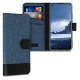Wallet Case Huawei P40 Lite Canvas Blau