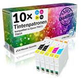 10x Tintenpatronen Epson T0611 - T0614