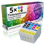 5x Tintenpatronen Epson T1631XL-T1634XL