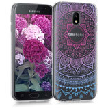 TPU Case Samsung Galaxy J3 2017 Sonne Blau Pink