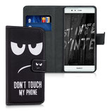 Wallet Case Huawei P9 Dont Touch Schwarz
