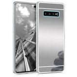 TPU Case Hülle Samsung Galaxy S10 Plus Spiegel Silber
