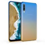 TPU Case Hülle Samsung Galaxy A50 Blau/Gold