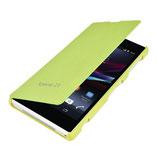 Flip Schutz Hülle Sony Xperia Z1 Grün