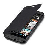 Flip Cover Schutzhülle HTC One M9 Schwarz