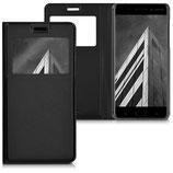 Flipcover Case Nokia 6 Schwarz Fenster