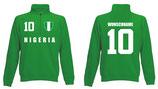 Nigeria Pullover WM 2018 Druck/Name Grün