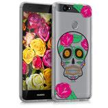 Crystal TPU Hülle Huawei Nova Skull