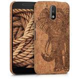 Korkcase Cover Motorola Moto G4 G4 Plus Elefant