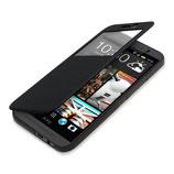 Flip Cover Hülle Fenster HTC One M9 Schwarz