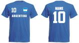Argentinien WM 2018 T-Shirt Kinder Blau