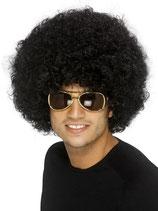 Perücke Lockenkopf Schwarz Afro