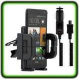 AUTO HALTERUNG HTC ONE M7 LÜFTUNG Lüftungshalterung für HTC One M7 + Ladegerät
