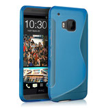 TPU Case Cover HTC One M9 Blau