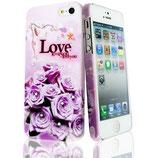 Hard Case Rose Love für Apple iPhone 5 Schutz Cover Hülle