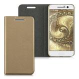 Flip Case HTC 10 Aufklappbar Gold