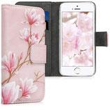 Wallet Case Apple iPhone SE / 5 / 5S Magnolien Rosa