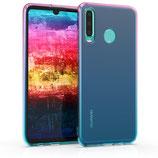 TPU Case Hülle Huawei P30 Lite Pink-Blau