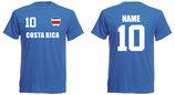 Costa Rica WM 2018 T-Shirt Druck Blau