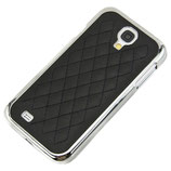 HARD CASE CHROM SAMSUNG GALAXY S4 I9500 I9505 COVER SCHWARZ