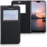 Flip Cover Huawei Honor 10 Fenster Schwarz
