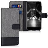 Wallet Case Xiaomi Redmi 4X Canvas Grau