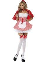 Rotkäppchen-Kostüm für Damen in den Grösse S M und L