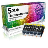 5x Tintenpatronen Canon PGI-525BK Schwarz
