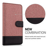 Wallet Case Canvas Hülle LG G5 Altrosa