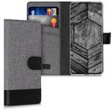 Wallet Case Samsung Galaxy S20 Plus Canavas Grau-Schwarz
