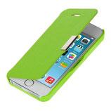 Flip Case Hülle für Apple iPhone SE / 5 / 5S Grün