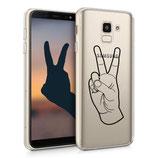 TPU Case Samsung Galaxy J6 Handzeichen