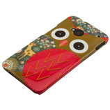 HARD CASE FÜR HTC ONE M7 EULE OWL ROT