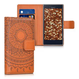 Wallet Case Hülle Sony Xperia X Compact Indische Sonne Braun