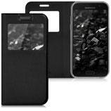 Flip Case Hülle Samsung Galaxy A3 2017 mit Sichtfenster Schwarz