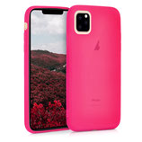 TPU Case Hülle Apple iPhone 11 Neon Pink