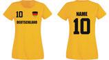Deutschland WM 2018 T-Shirt Damen Gelb