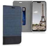 Klapphülle Cover Huawei P20 Lite Blau