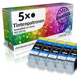 5x Tintenpatrone XXL Canon PGI-550 XL BK