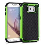 Hybrid Case Samsung Galaxy S6 Schwarz/Grün